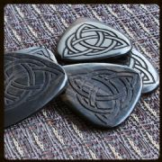 Laser Tones - Triquetra - 4 Guitar Picks | Timber Tones